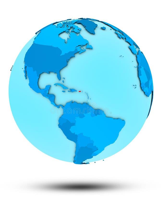 Porto Rico no globo político azul ilustração do vetor