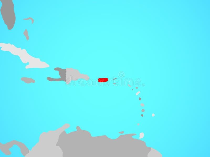Porto Rico no mapa ilustração stock