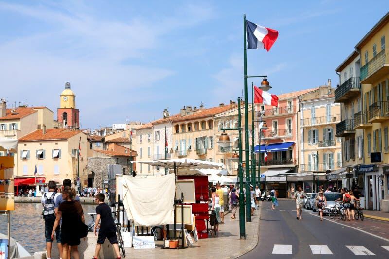 Porto Riviera francês de Saint Tropez imagens de stock royalty free