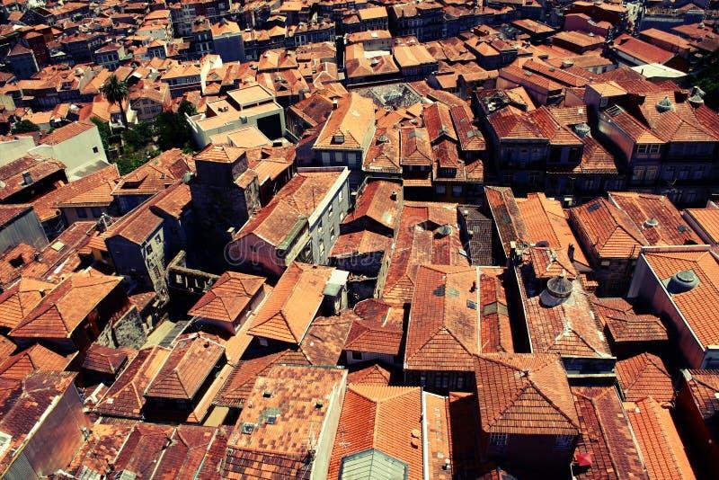 Porto rode daken stock fotografie