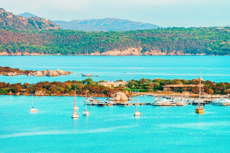 Porto Rotondo in Golfo Aranci at Costa Smeralda. In Sardinia in Italy stock images