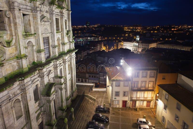 Porto 's nachts in Portugal royalty-vrije stock foto