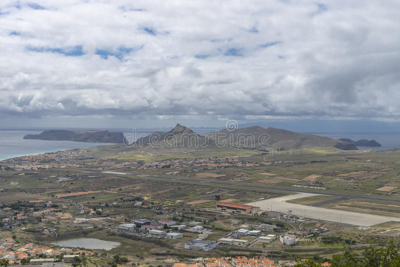 Porto Santo Airport stockbild
