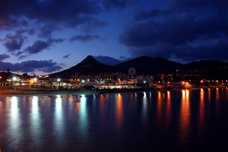 Porto Santo Night royalty free stock photography