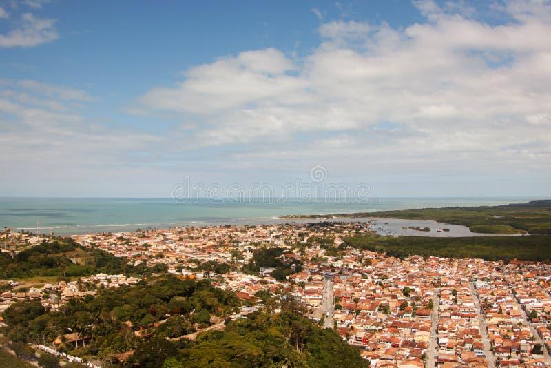 Porto Seguro - Bahía, el Brasil, visión aérea. imagenes de archivo