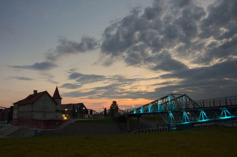 Porto Shulz in Grudziadz immagini stock libere da diritti