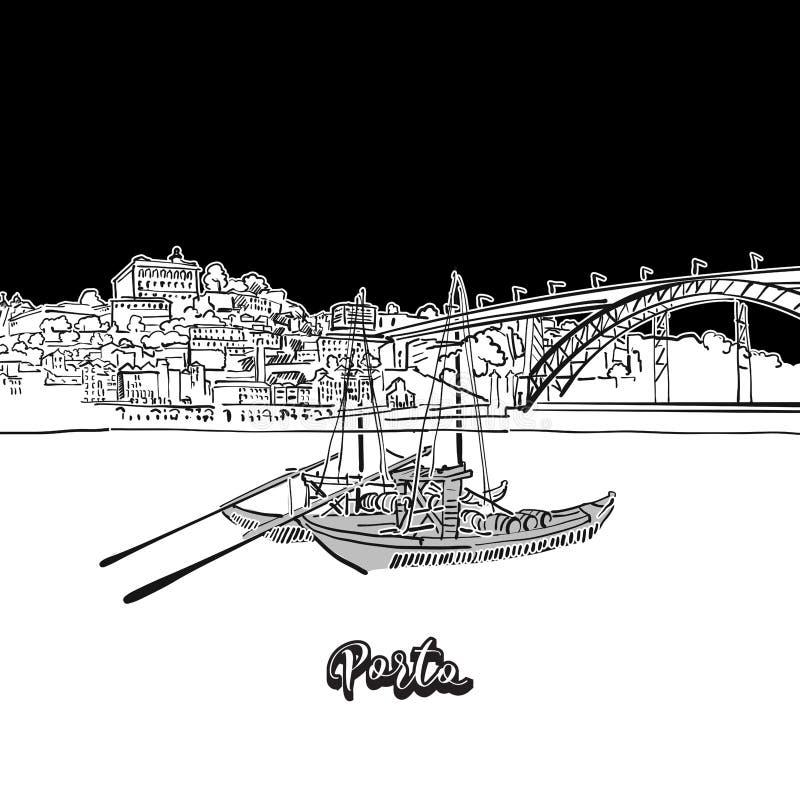 Porto-Skyline, Entwurf lizenzfreie abbildung