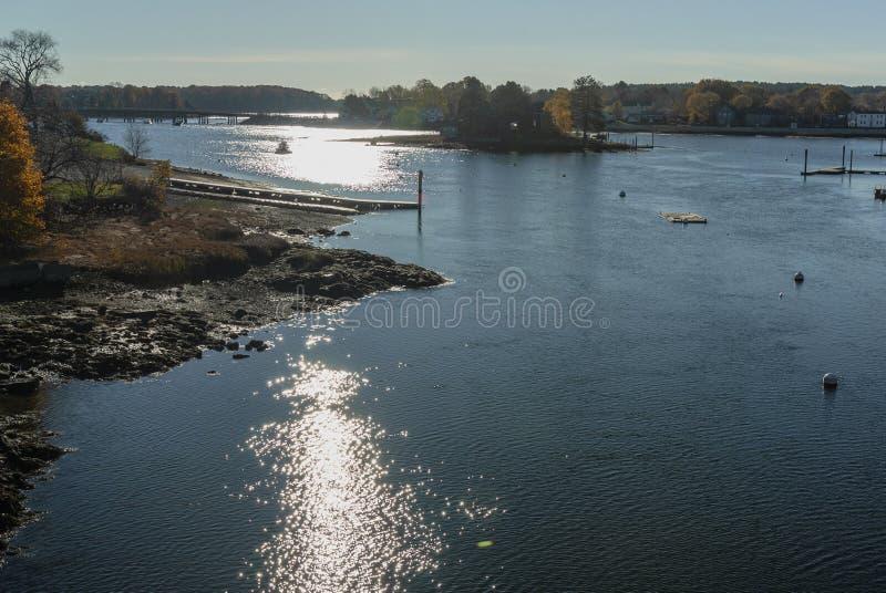 Porto soleggiato di Portsmouth di mattina fotografie stock libere da diritti