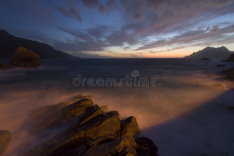 porto solnedgång fotografering för bildbyråer