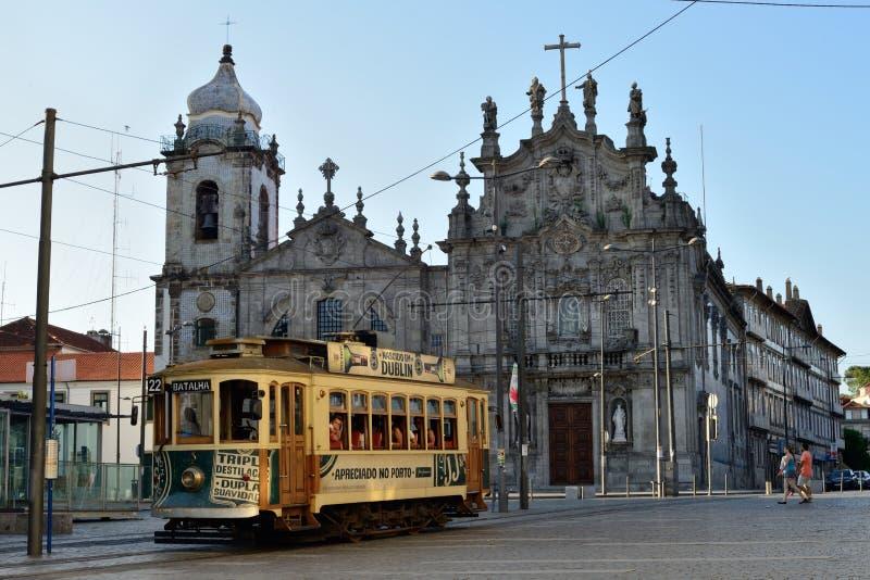 Porto spårvagn royaltyfri bild