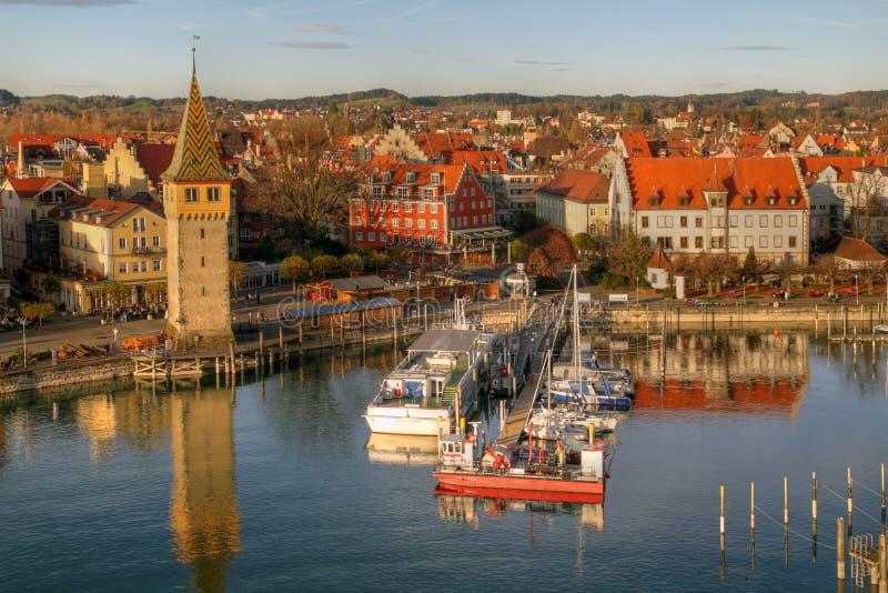 Porto su Bodensee, Germania di Lindau immagine stock libera da diritti