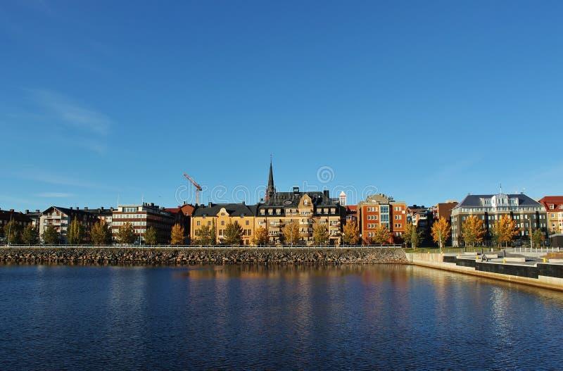 Porto sul em Luleå fotos de stock royalty free