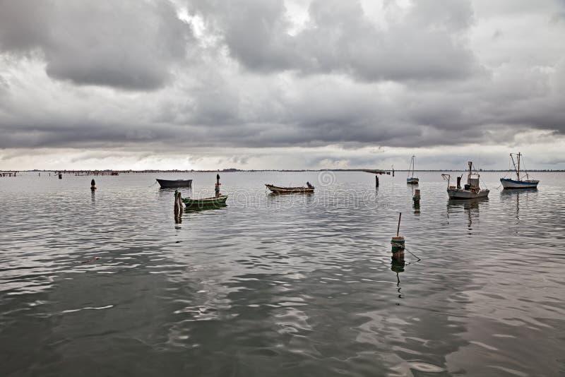Porto Tolle, Rovigo, Veneto, Włochy: krajobraz Adriatycki se zdjęcie stock