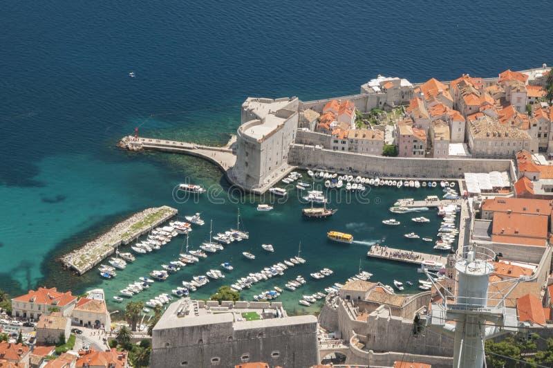 Porto velho de Dubrovnik imagem de stock