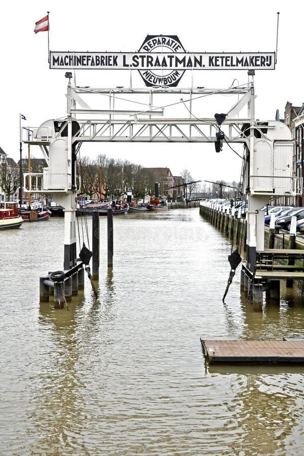 Porto velho na Dordrecht-Holanda fotografia de stock royalty free