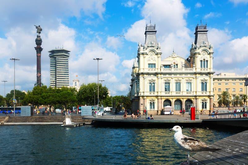 Porto Vell nel giorno di estate Barcellona, Spagna immagini stock
