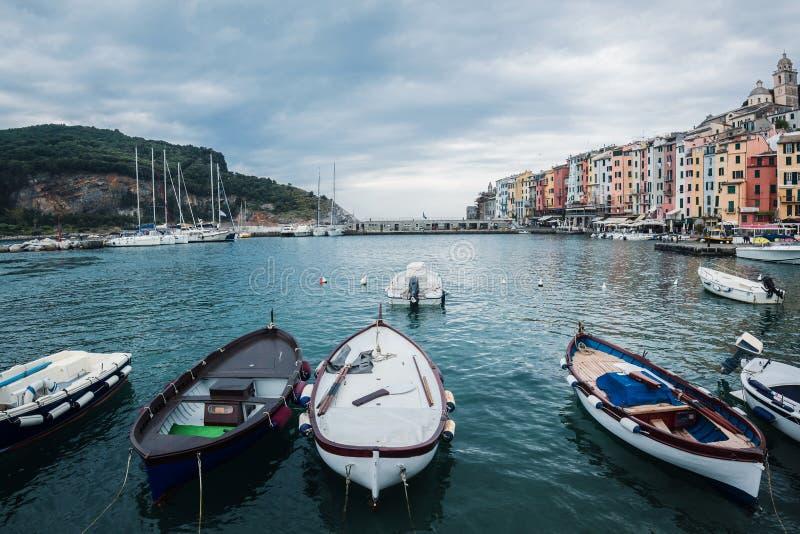 Porto Venere, Italie Vue du port Côte ligurienne, province photos libres de droits
