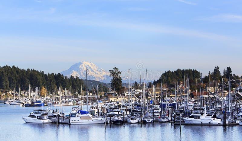 Porto Washington State Mt dell'evento rainier fotografie stock libere da diritti