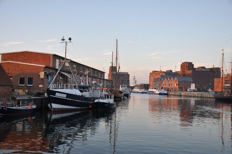 Porto in Wismar immagini stock
