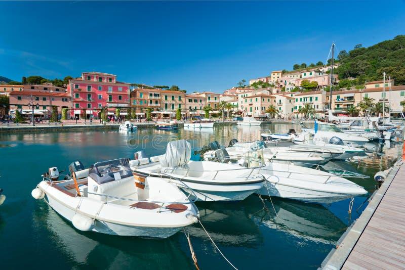portoazzurro Италии острова elba стоковые изображения rf