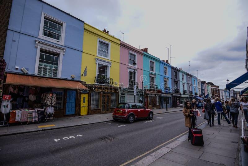 Portobello-Straße Notting Hill lizenzfreies stockbild