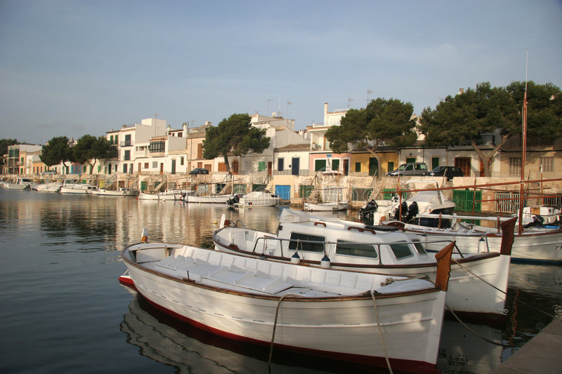Download Portocolom3 stock photo. Image of peace, boats, harbour - 1029816