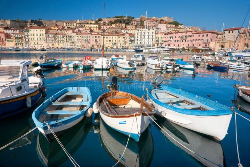 Portoferraio, Eiland van Elba, Italië. royalty-vrije stock afbeeldingen
