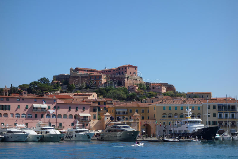 Portoferraio in Elba Island fotografie stock libere da diritti
