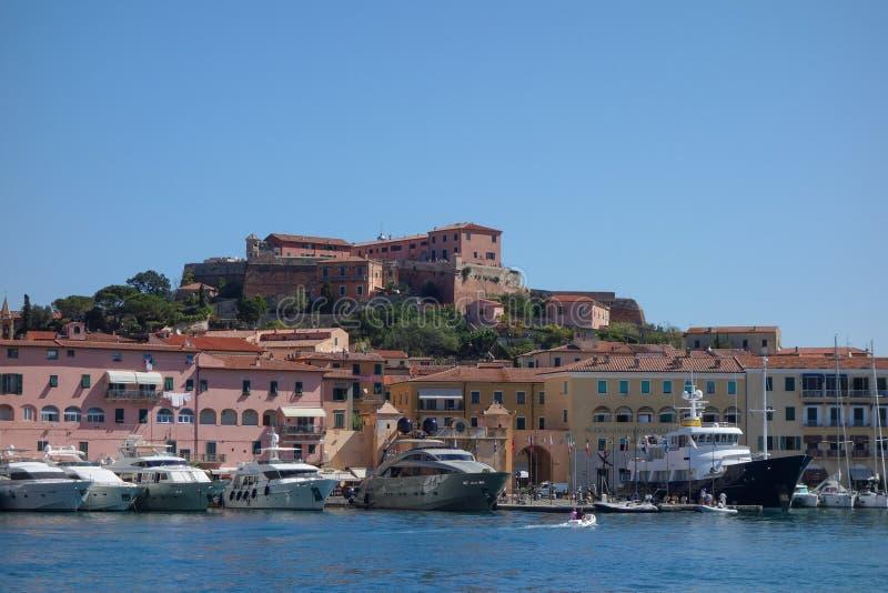 Portoferraio in Elba Island fotografia stock libera da diritti