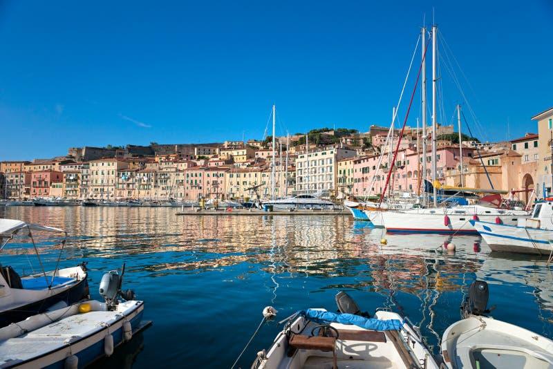 Portoferraio, ilha da Ilha de Elba, Italy. foto de stock royalty free