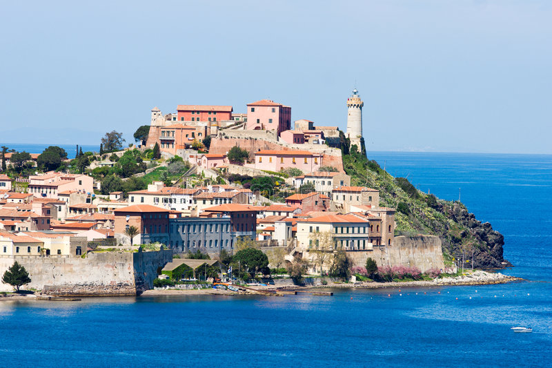 Portoferraio, Insel von Elba, Italien. lizenzfreie stockfotos