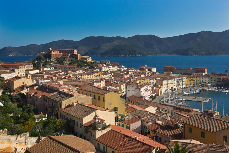 Portoferraio, Insel von Elba, Toskana lizenzfreie stockfotos