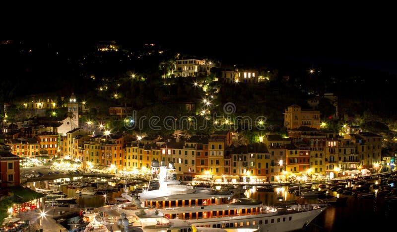 portofino νύχτας στοκ εικόνες