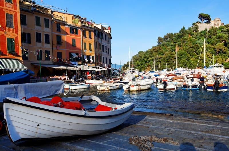 Portofino Dorf auf der Ligurier Küste stockfotografie