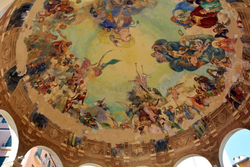 Portofino frescoed Decke lizenzfreie stockfotos