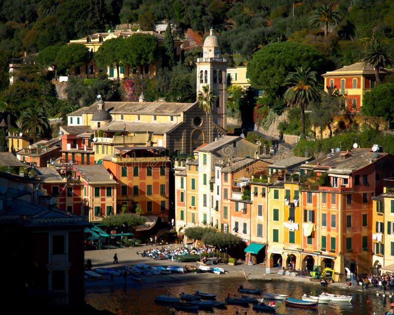 Portofino Genova in Liguria Italia immagini stock libere da diritti