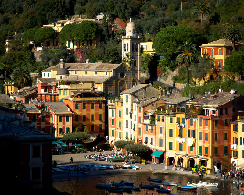 Portofino genua w Liguria Italy obrazy royalty free
