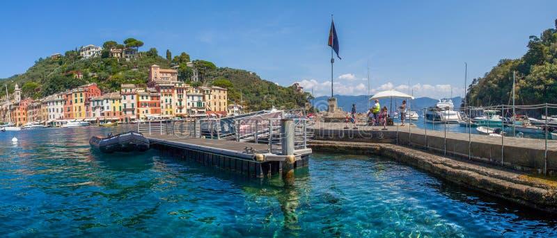 Portofino, Italië - de Pier van de Veerboot royalty-vrije stock foto's