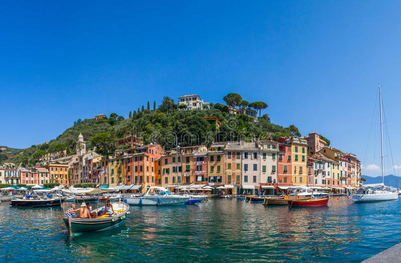 Portofino, Italië - Haven stock fotografie