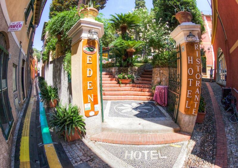Portofino, Italië: Het Hotel van Eden stock foto's