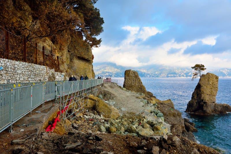 Portofino Italia de Paraggi fotos de archivo libres de regalías