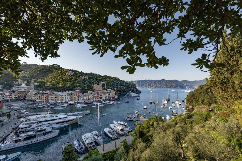 Portofino, Italia, uno de los mejores lugares del mundo imagen de archivo