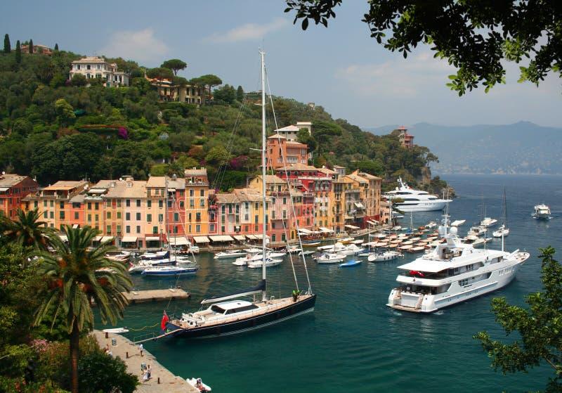 Portofino on the Italian Riviera stock photo