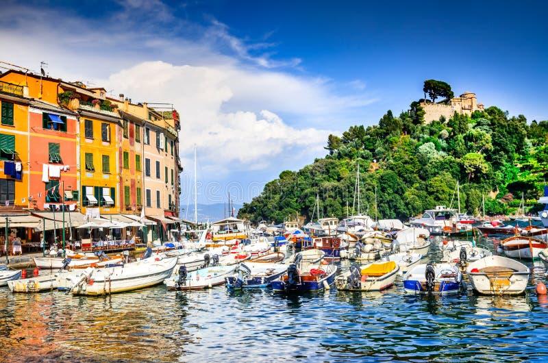 Portofino, italiano Riviera, Italia fotografie stock