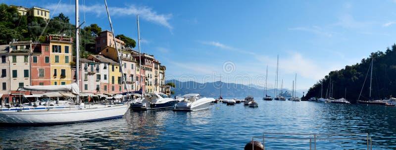 PORTOFINO, ITALIE - 11 09 2018 : Le port de Portofino et l'achat sont image libre de droits