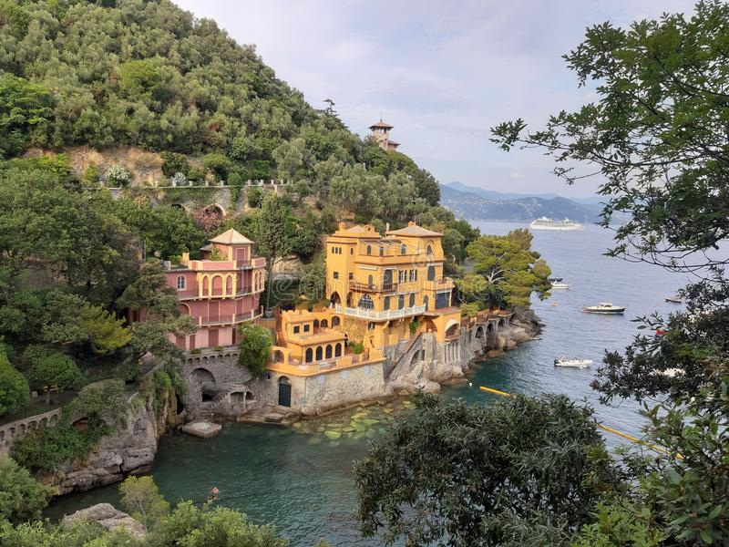Travelling around Ligurian seaside in summer days royalty free stock image