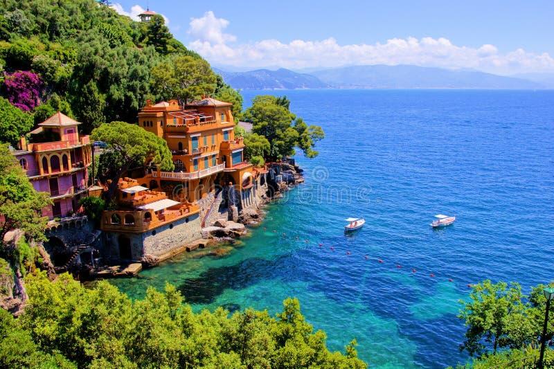 Portofino lyx royaltyfria bilder