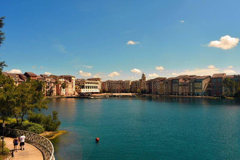 Portofino Trzymać na dystans hotel wszystkie urok Włochy Dobiera się odprowadzenie wpólnie, plenerowy, w forestsid fotografia royalty free