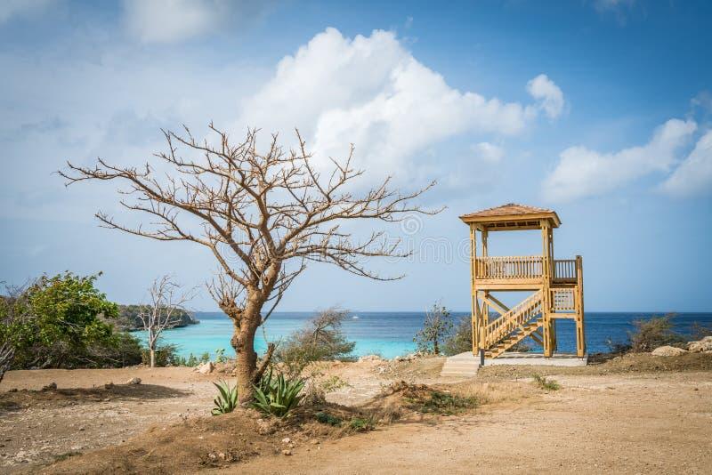 PortoMari海滩库拉索岛景色 库存照片