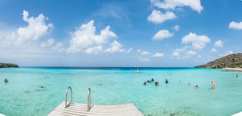 PortoMari strand Curacao royaltyfria foton